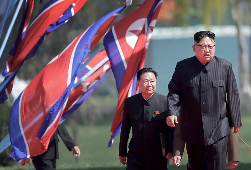 北韓領導人金正恩身體狀況引發外界關注。(美聯社)