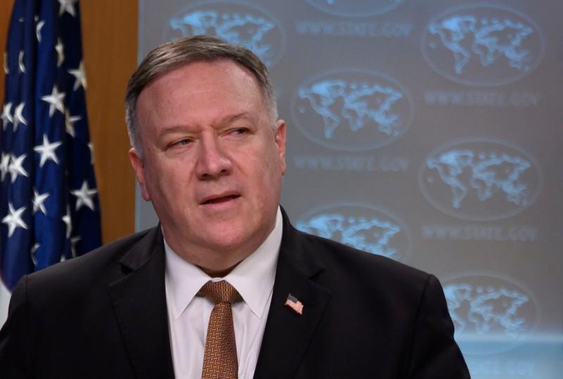 美國國務卿龐皮歐(Mike Pompeo)認為,中國早在去年11月就知道武漢肺炎病毒的存在。(法新社資料照)