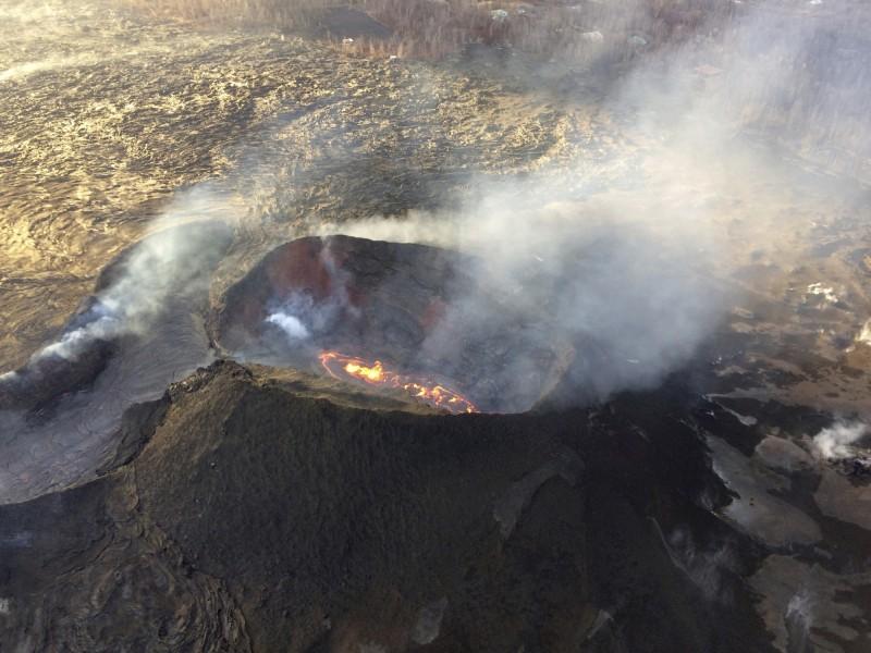夏威夷幾勞亞火山2018年5月進入活躍期。(美聯社)