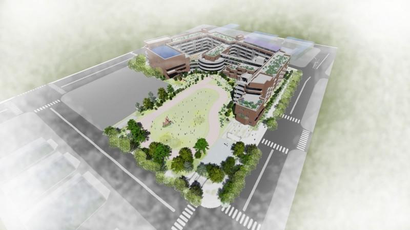 新竹縣嘉豐國小新建規劃設計案已完成遴選,預計將成為縣內首座「鑽石級」綠建築校園。(新竹縣政府提供)