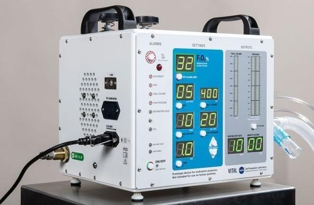 NASA為武肺患者開發的VITAL高壓呼吸器。(翻攝自NASA官網)