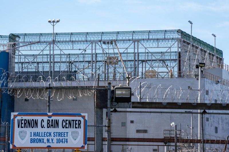 里克斯島監獄(Rikers Island)為紐約市的主要監獄。(法新社)