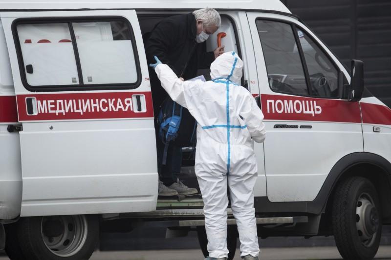 俄羅斯境內武漢肺炎確診人數今(28)日新增6411例,再創單日新高,全國累計9萬3558例。(美聯社)
