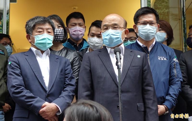 行政院長蘇貞昌今邀黨籍立委針對紓困方案聽取意見。(資料照)