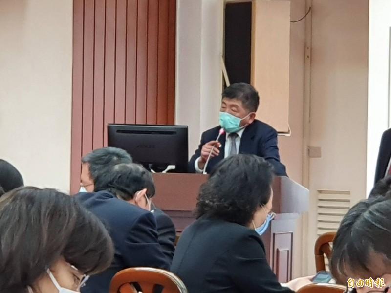 衛福部長陳時中赴立院報告並備質詢。(記者謝君臨攝)