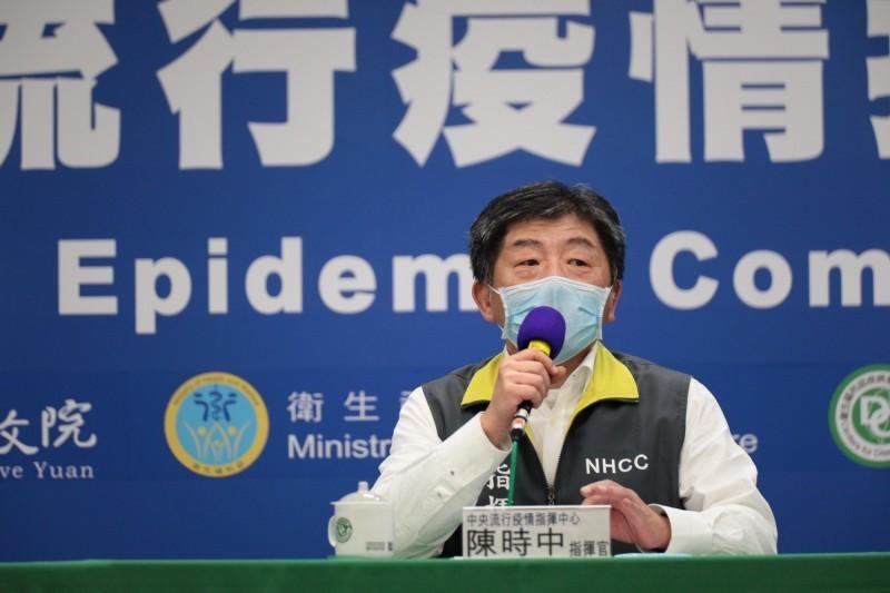 指揮官陳時中表示,幾天零確診現在來說意義不大,這不見得就代表沒有傳播源,個人防線要做好。(指揮中心提供)