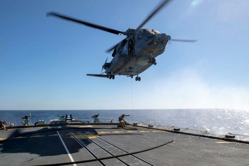 北約聲明表示,一架加拿大CH-148「旋風式」直升機在演習途中墜毀。圖為CH-148示意圖,與本新聞無關。(路透)