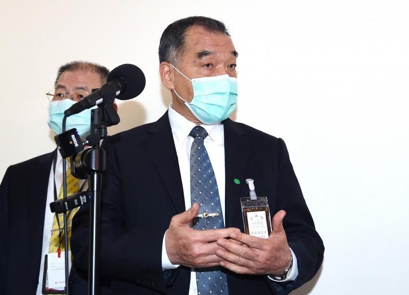 國安局長邱國正(見圖)今日在立法院答詢時指出,武漢肺炎就是源自中國,國安局已將生物戰列為情蒐項目。(記者廖振輝攝)