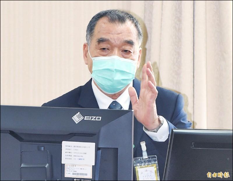 國安局長邱國正昨在立院報告。(記者廖振輝攝)
