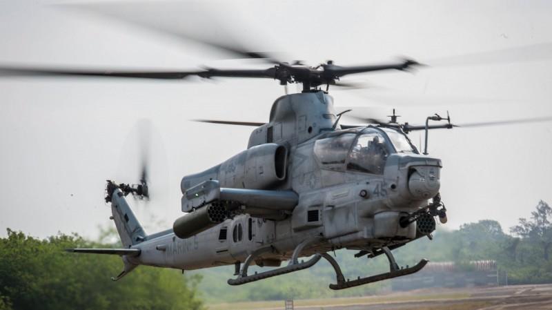 AH-1Z蝰蛇直升機。(歐新社)