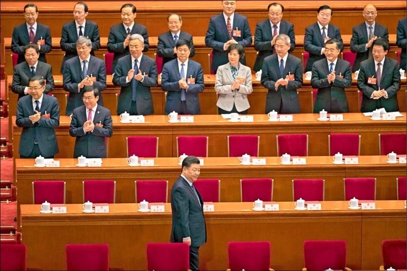 中國人大、政協兩會預定在本月21日、25日召開。圖為去年3月15日北京人民大會堂閉幕。(美聯社檔案照)