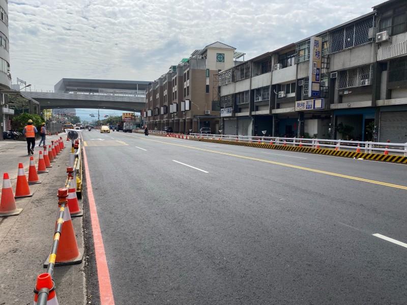 台中太原地下道填平西側路段提早完工通車。(圖:市府提供)
