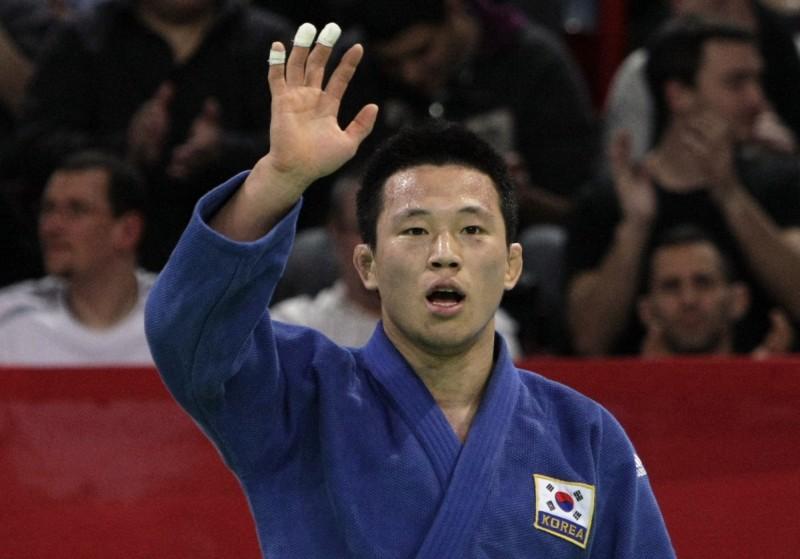 2008年北京奧運斬獲73公斤級柔道銀牌的韓國選手王機春,因為涉嫌性侵未成年人被捕。(美聯社)
