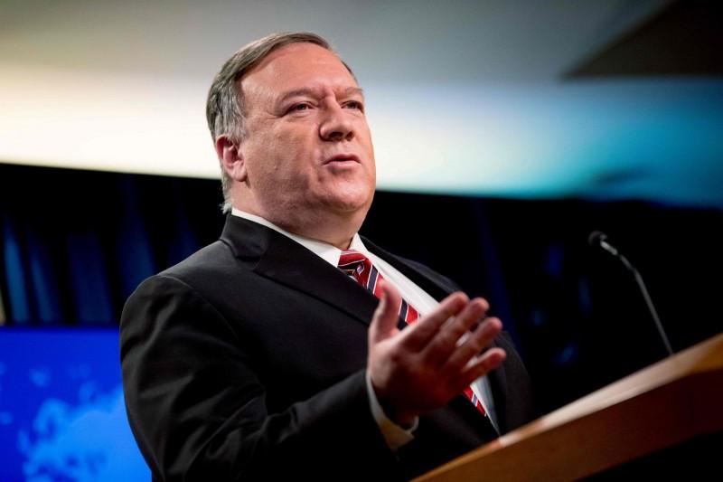 美國國務卿龐皮歐(見圖)揭露金正恩現況,也稱兩韓駁火是偶發事件。(法新社)