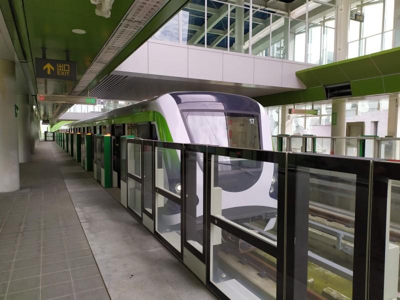台中捷運綠線預計年底通車,市府表示橘線如果順利,「20年內可以完成」。(中市府提供)