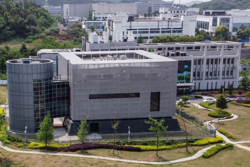 圖為中國武漢P4實驗室空照圖。(法新社)