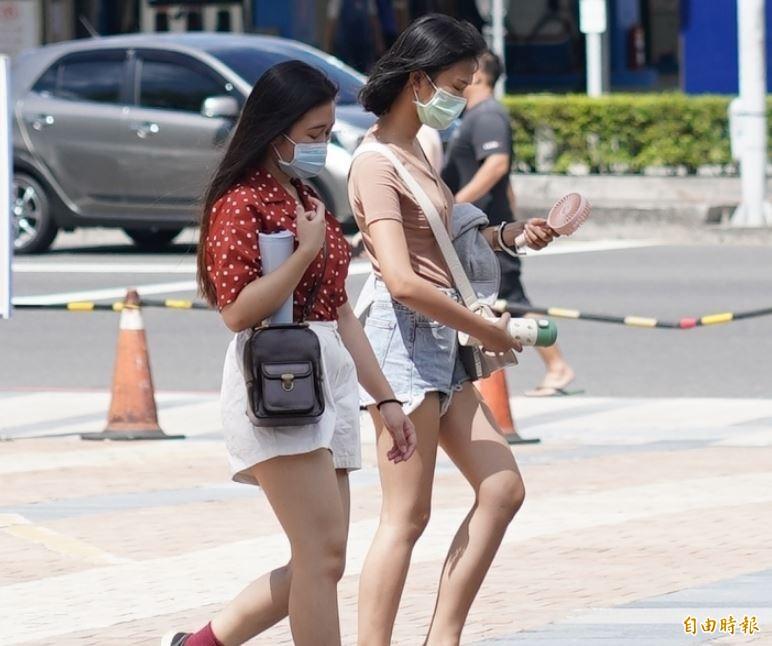 明(7)日各地普遍呈現高溫炎熱,大致呈現多雲至晴的天氣,紫外線指數偏高,尤其台南市、澎湖縣達「紫色危險級」。(資料照)