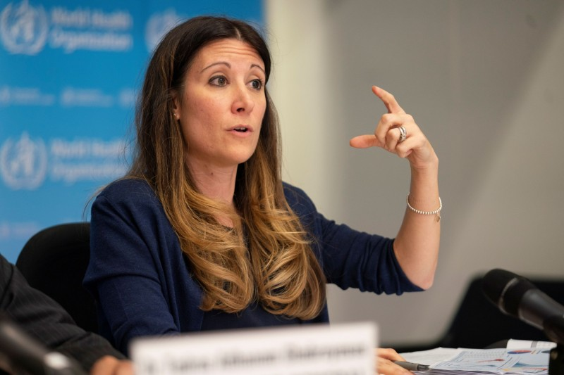 世衛世衛流行病學家范克爾克霍夫(Maria Van Kerkhove)指出,擬派專家團赴中國武漢調查疫情源頭,但遭口中國拒絕。(路透)