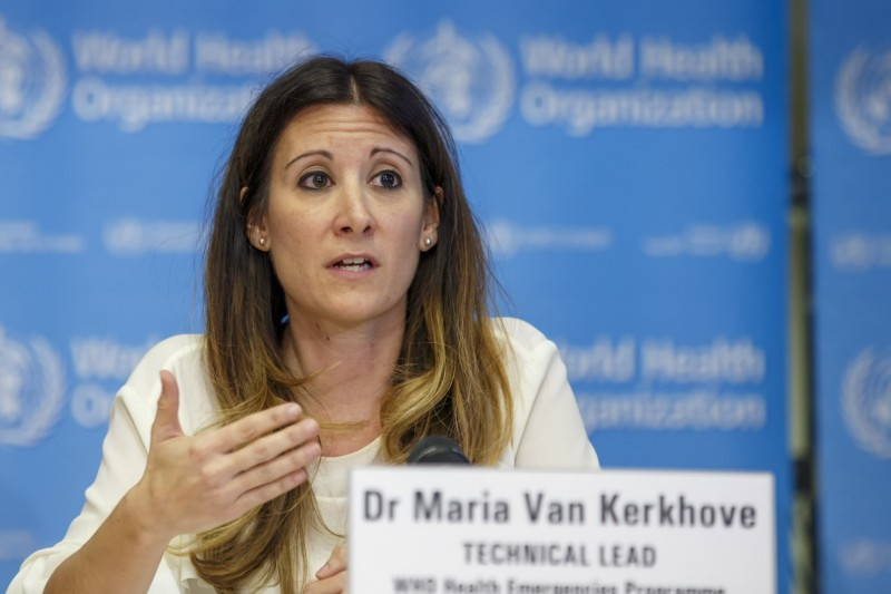 WHO流行病學專家范科霍芙表示,患者復陽可能是肺部正在排出死細胞,這是康復過程的一部份。(歐新社)