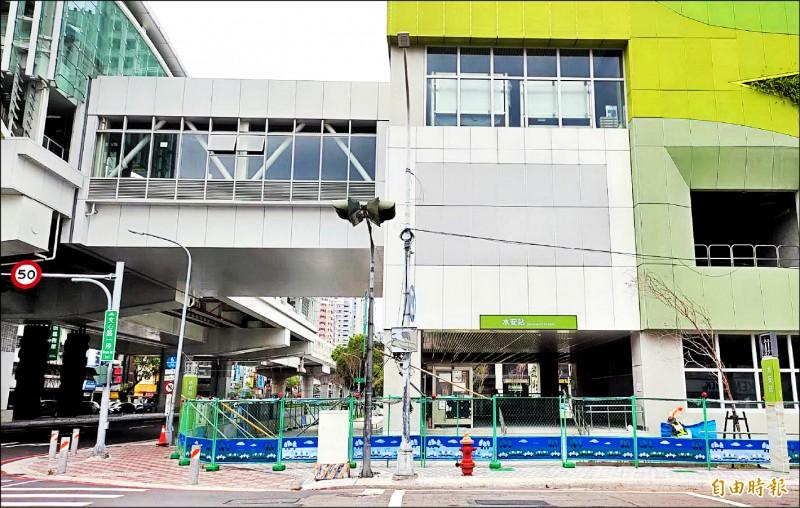 台中捷運綠線「水安站」站名一直有爭議。(記者張菁雅攝)