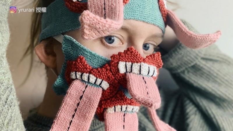 Ýrúrarí Jóhannsdóttir編織的口罩。(Instagram yrurari 授權)