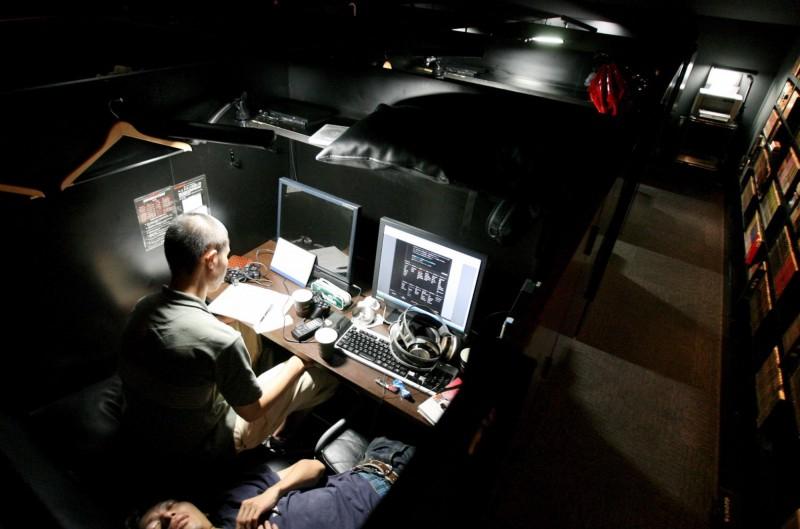 根據東京統計,每天在網咖生活的人數約為4000人。(歐新社)