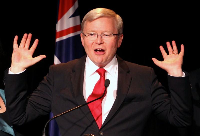 前澳洲總理陸克文(見圖)認為,美國加大支持台灣的力道,恐怕會使北京做出同等力度的限縮。(路透檔案照)