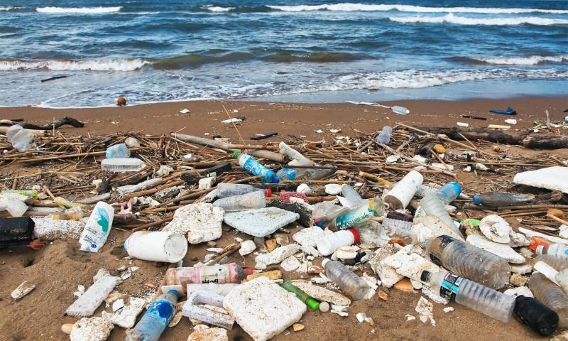 根據ICC國際淨灘行動淨灘數據,寶特瓶多年來蟬聯海洋廢棄物排行榜前3名。(RE-THINK提供)