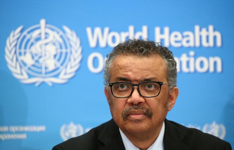 世界衛生組織(WHO)秘書長譚德塞。(路透檔案照)