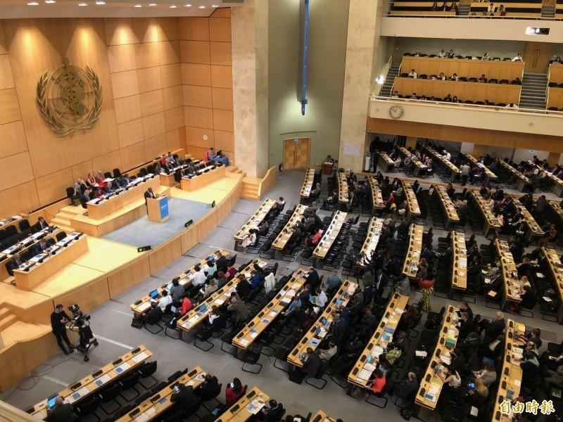 不甩中國反對,美、日等8個先進工業國將聯合對世衛組織發聲明,支持台灣參加世界衛生大會。圖為世衛大會會場。(資料照)