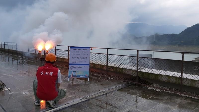南水局今午啟動人工增雨作業。(南水局提供)