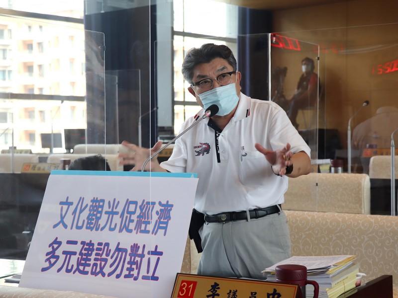 國民黨議員李中建議大安媽祖文化園區改為ROT案。(李中提供)