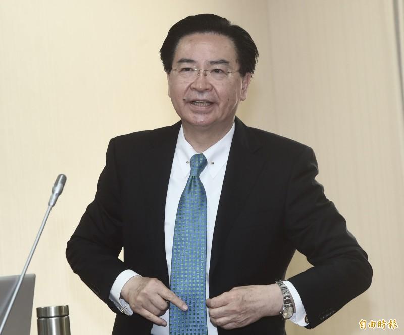 立法院外交及國防委員會,11日邀請外交部長吳釗燮報告「外交部各地區工作成果報告及未來規劃方向」並備詢。(記者簡榮豐攝)