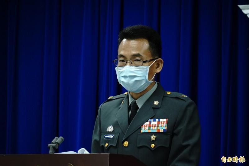 國防部作計室聯戰處長林文皇。(記者涂鉅旻攝)