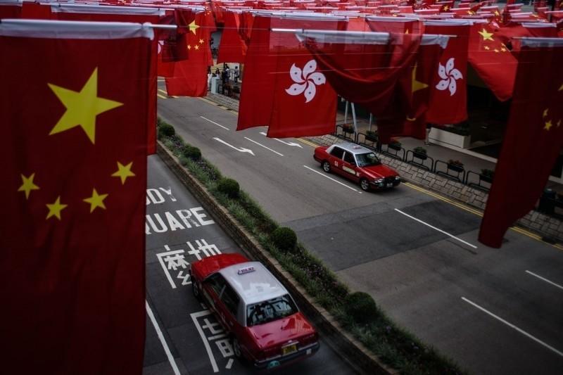 香港預定本月底恢復二讀國歌法。(法新社)