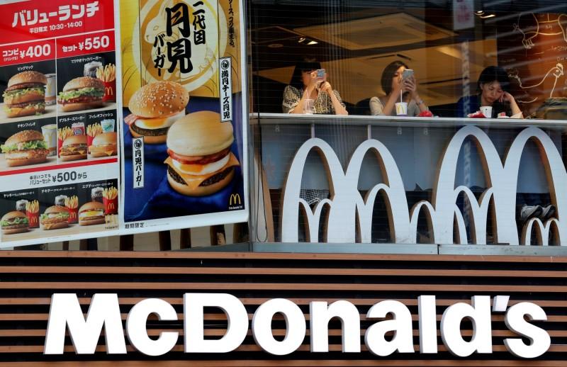 日本麥當勞在疫情期間銷售額未受防疫工作影響而減損。(路透)
