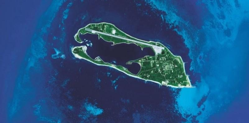 日本媒體揭露中共擬定8月在南海軍演,模擬奪取東沙島(見圖)。(資料照,中央大學提供)