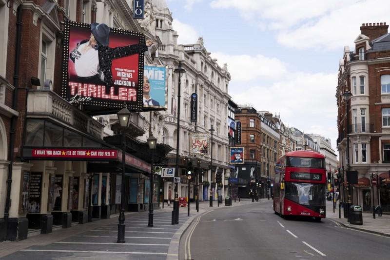 英國國家統計局表示,境內與武漢肺炎相關的死亡病例已突破4萬例。圖為英國倫敦一景。(歐新社)
