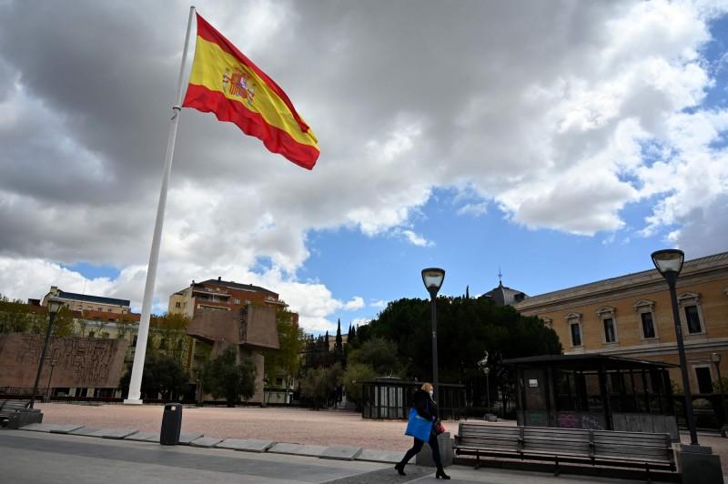 西班牙一名113歲的人瑞婆婆最近戰勝武漢肺炎。圖為西班牙街景。(法新社檔案照)