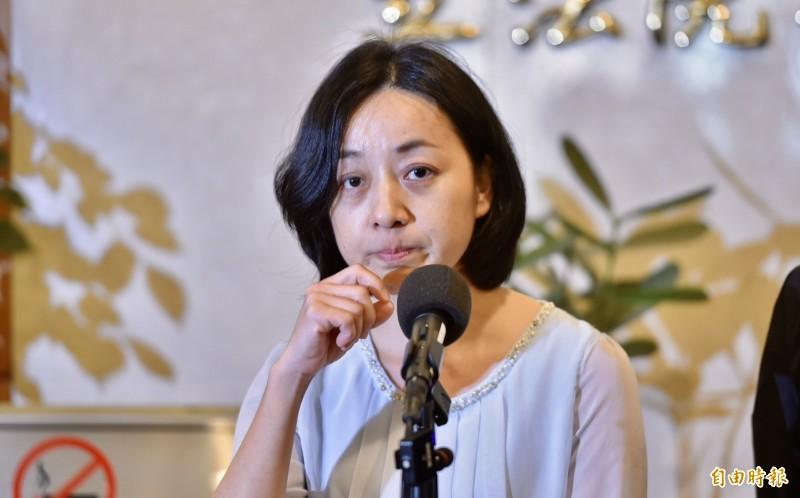 王婉諭表示,李來希的發言「非常惡意」,希望不要再有更多這種惡意的言論來製造更多的對立。(記者塗建榮攝)