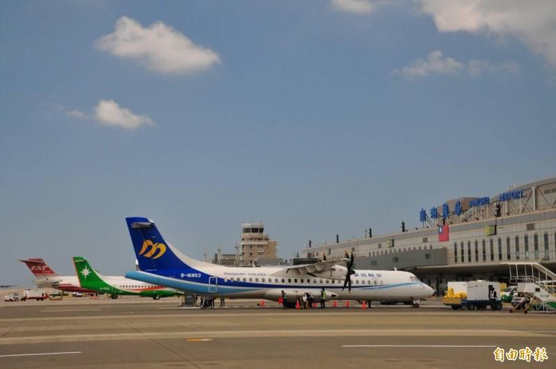 澎湖空運市場少了遠東及復興後,運載量更顯吃緊。(記者劉禹慶攝)