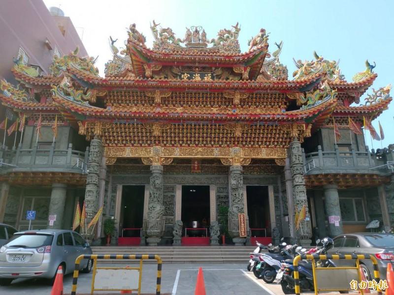大園福海宮已有166年歷史,是當地居民的信仰中心。(記者鄭淑婷攝)
