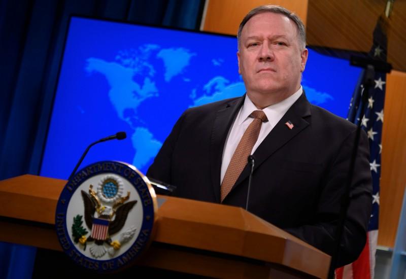 美國國務卿龐皮歐(Mike Pompeo)譴責北京的竊取行為,並呼籲停止這種惡意行徑。(法新社資料照)