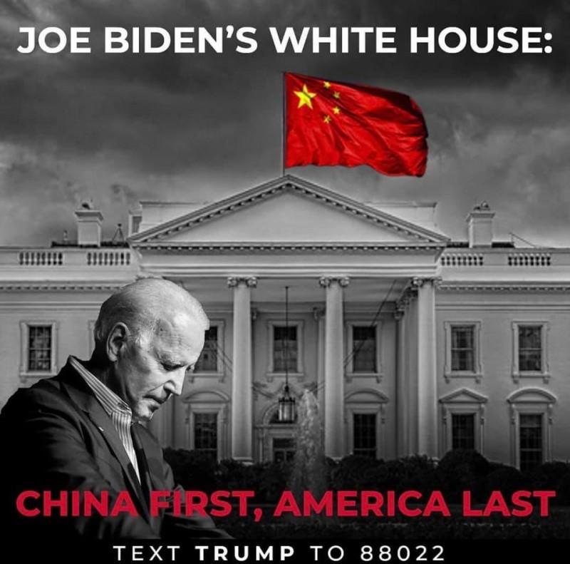 川普諷刺,拜登若當選白宮將插上五星旗。(圖片取自「Donald J. Trump」臉書)