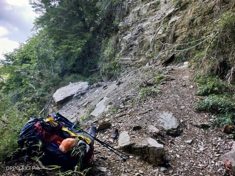 女大生墜落85公尺深的山谷身亡。(南投縣消防局提供)