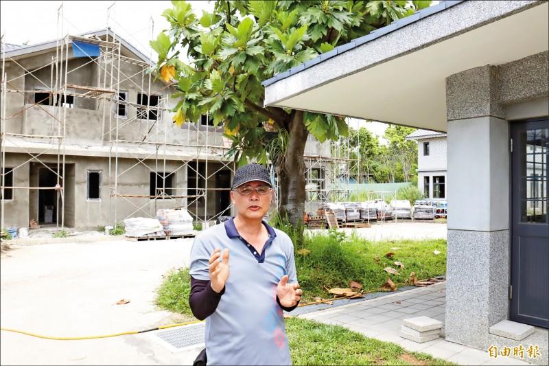 新北市溪洲部落總幹事鄭正文對永續家園充滿期待。   (記者翁聿煌攝)