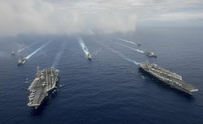 英國《泰晤士報》報導,美國國防部一系列兵棋推演顯示,美國將在2030年的海戰中敗給中國。(路透)