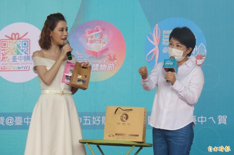 台中購物節將登電視購物平台,盧秀燕也將化身購物專家行銷台中。(記者蘇孟娟攝)