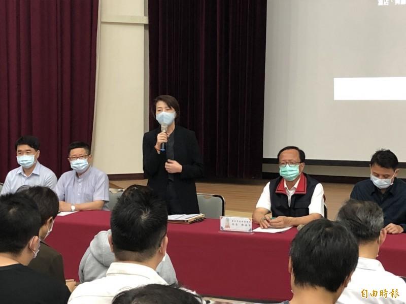 台北市副市長黃珊珊主持酒店復業說明會。(記者王冠仁攝)