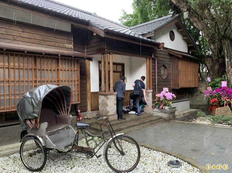 松山療養所所長宿舍以藝文療癒空間「靜心苑」對外開放。(記者楊心慧攝)